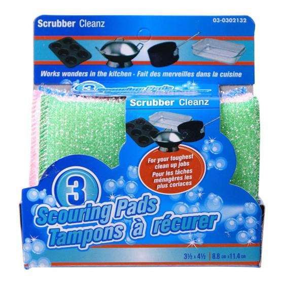 Scouring Pads 3PK (Assorted Colours)