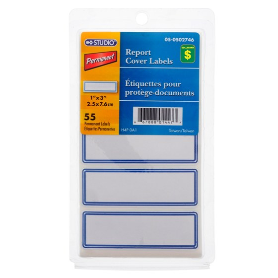 Report Cover Labels 55PK (Assorted Colours)