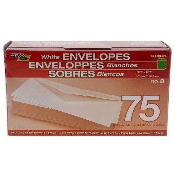 75PK White Envelopes