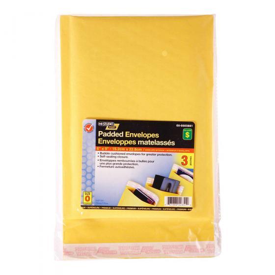 """Padded Envelopes 6""""x9"""", 3PK"""