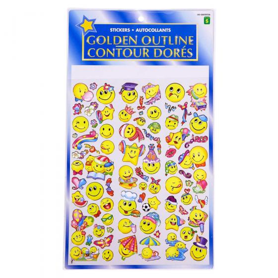 Golden Outline Stickers (Assorted Colours)
