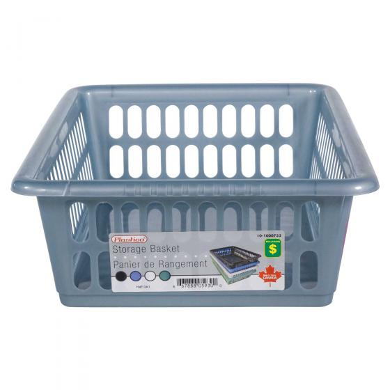 Plastic Storage Basket (Assorted Colours)