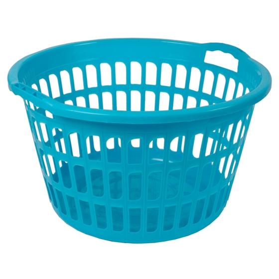 Plastic Laudry Basket (Assorted Colours)
