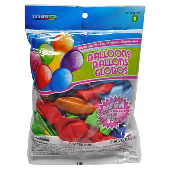 Balloons (Assorted Colours and Sizes)