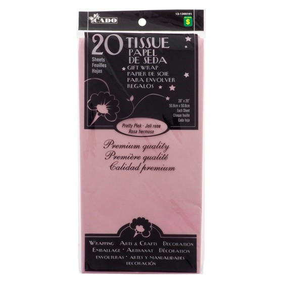 20 Sheets Pretty Pink Tissue Gift Wrap