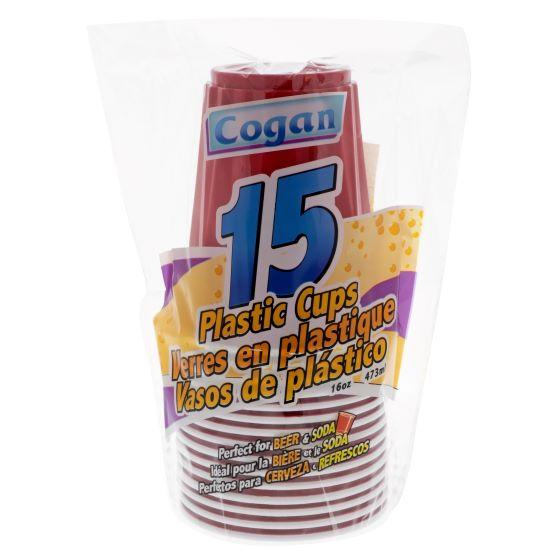 Plastic Cups 18PK (Assorted Colours)