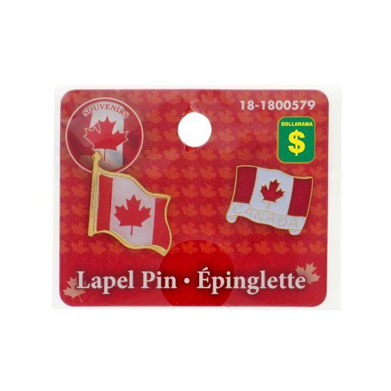 CANADA Enamel 2pk Lapel Pin