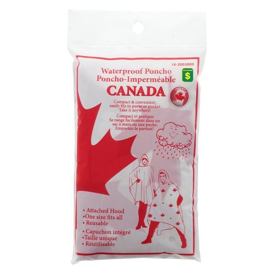 Canada Themed Adult Rain Poncho