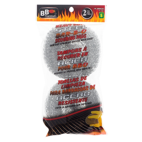 2Pk Steel Barbecue Scouring Pads