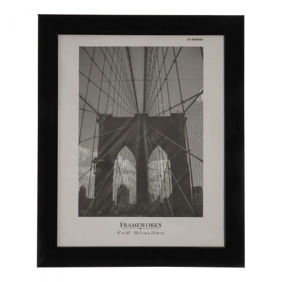 8''x10'' Black Plastic Photo Frame