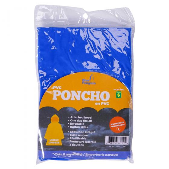 PVC Poncho (Assorted Colours)