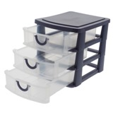 3 Drawer Organizer With Handles (Assorted Colours) - 2