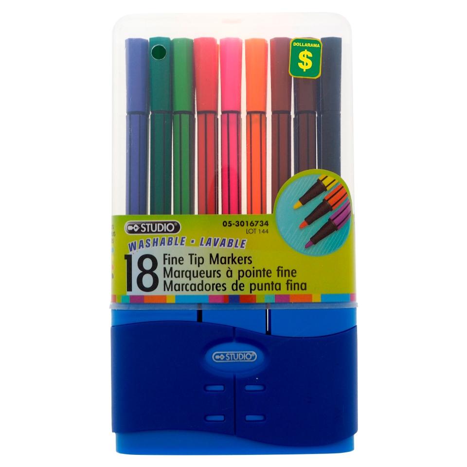 Fine Tip Marker Set 18PK (Assorted Colors)