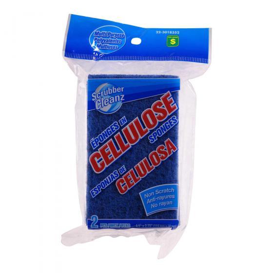 Non-Scratch Cellulose Scrub Sponges 2PK