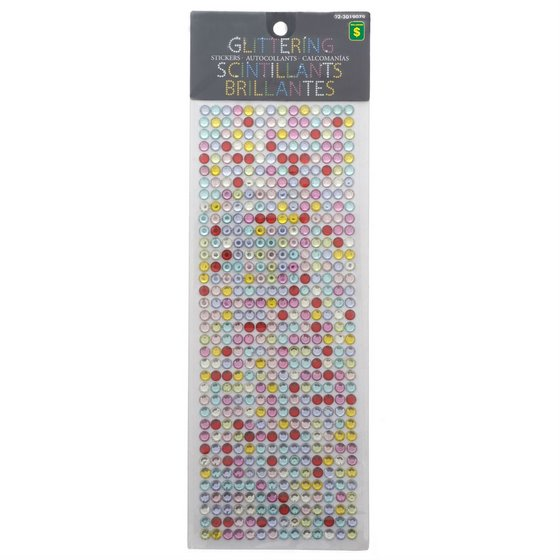 Glittering Stickers (Assorted Colours)