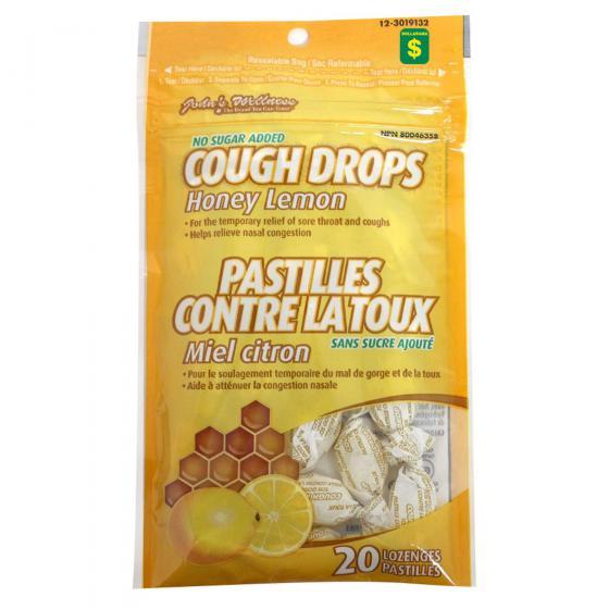 Honey Lemon Cough Drops 20PK