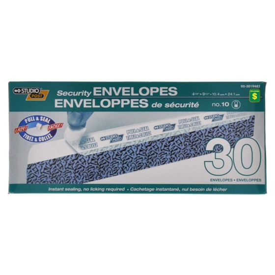 Security Envelopes, no.10, 30PK
