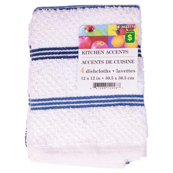 Cotton Terry Dishcloths (Assorted Colours)