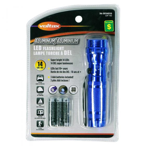 Aluminum LED Flashlight (Assorted Colours)