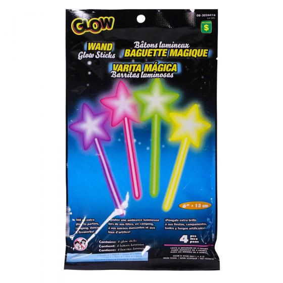 Glow Sticks 4PK (Assorted Colours and Shapes)