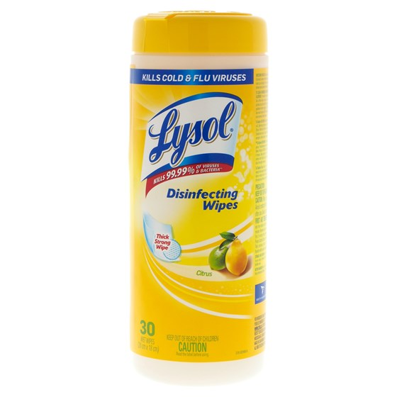 Lysol Lemon Disinfecting Wipes