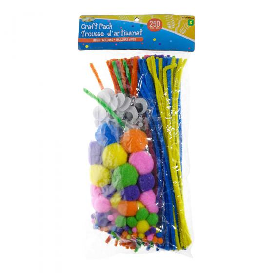 Craft Pack 250PC (Assorted Sizes and Colours)