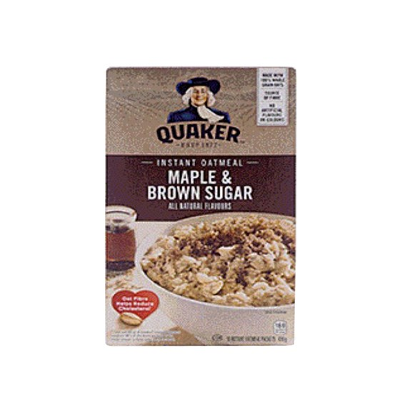 Quaker instant oatmeal - Maple and sugar