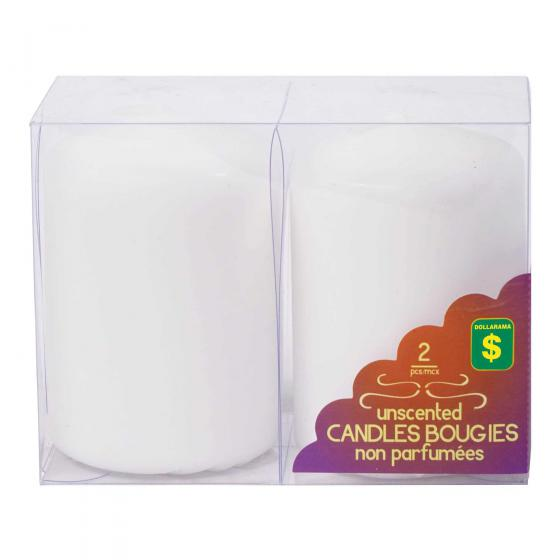 Unscented Candles 2PK