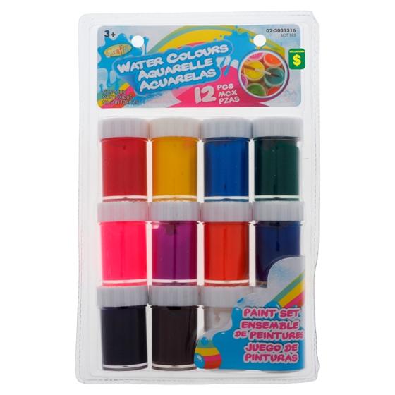 Paint Set 12PK (Assorted Colours)