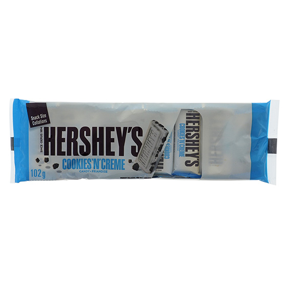 HERSHEY'S Cookies 'n' Creme Mini Chocolate Bars 8PK