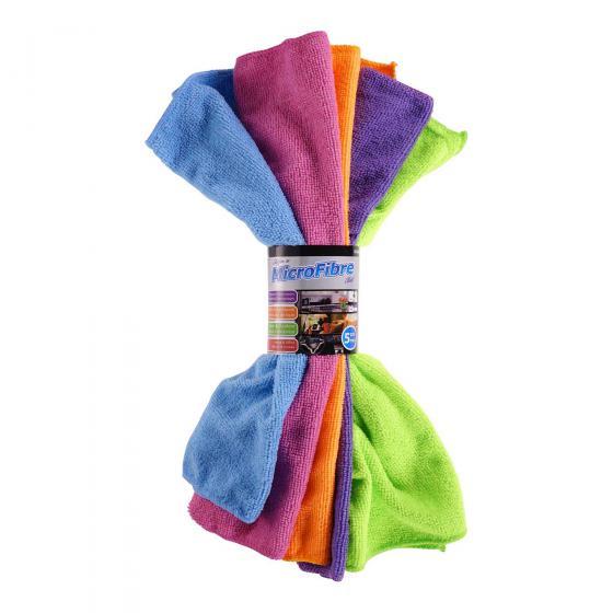 Microfibre Cloths 5PK (Assorted Colours)