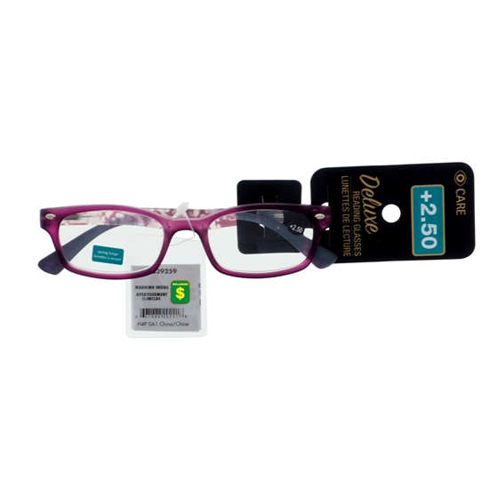 Reading Glasses +2.5 Diopter (Assorted Styles)