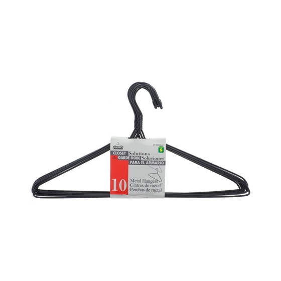 Plastic coated Metal Hangers 10PK (Assorted Colours)