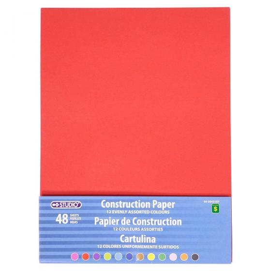48 Sheets Construction Paper (Assorted Colors)