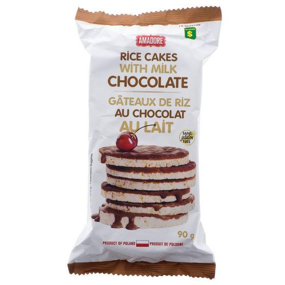 Rice Cakes with Milk Chocolate