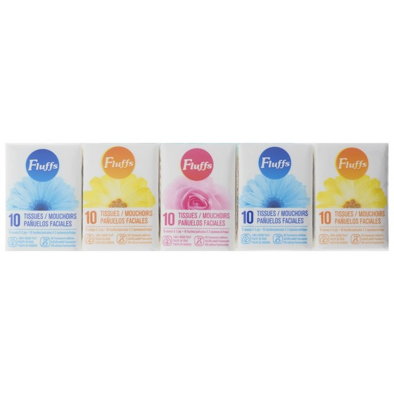 10 Tissues Pocket Size 10PK (Assorted Designs)