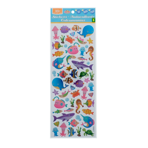 Stickers 35+PK (Assorted Colours)