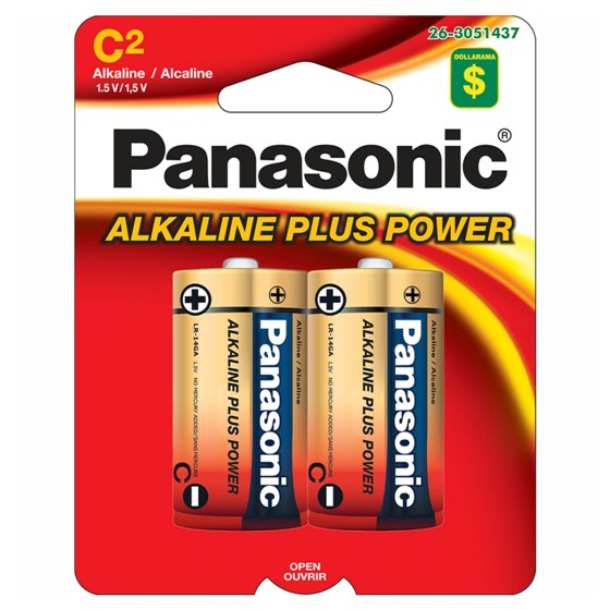 2x C Alkaline Batteries