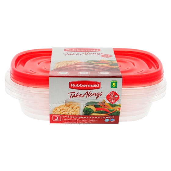 Divided Food Container 3PK