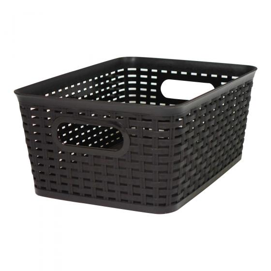 Large Plastic Woven Basket (Assorted Colours)