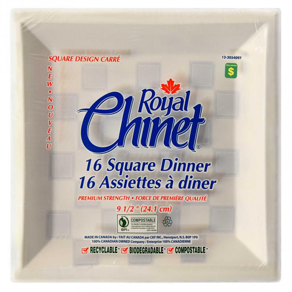 Square Disposable Dinner Plates 16PK