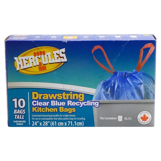 Clear Blue Recycling Kitchen Bags 10PK