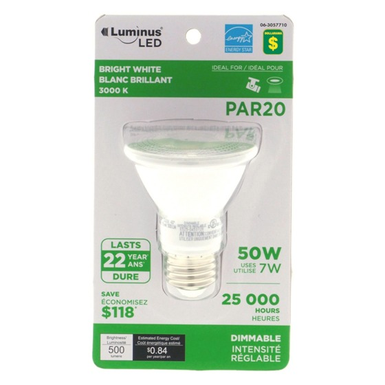 PAR20 60W LED 3000K Light Bulb