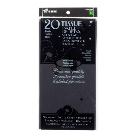 20 Sheets Black Licorice Tissue Gift Wrap