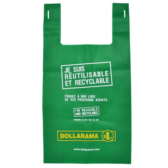 Large reusable Dollarama Bag (French)