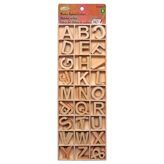 Wooden Alphabet Letters 162PC