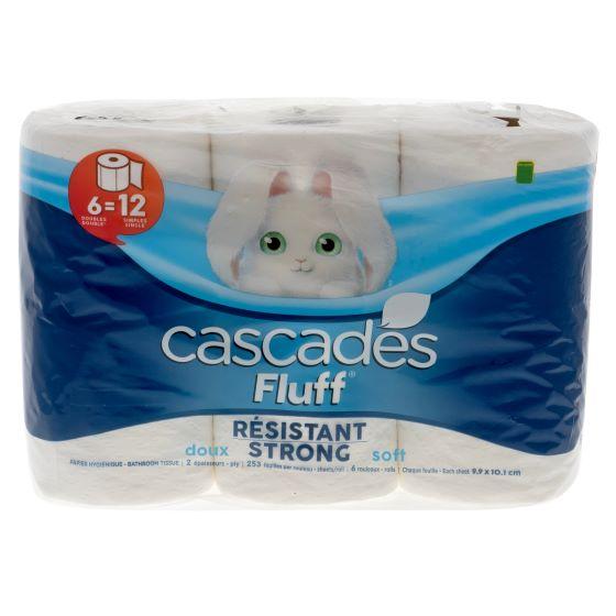 6 Fluff Bathroom Tissue Rolls