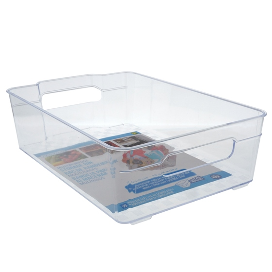Wide Rectangular Plastic Bin