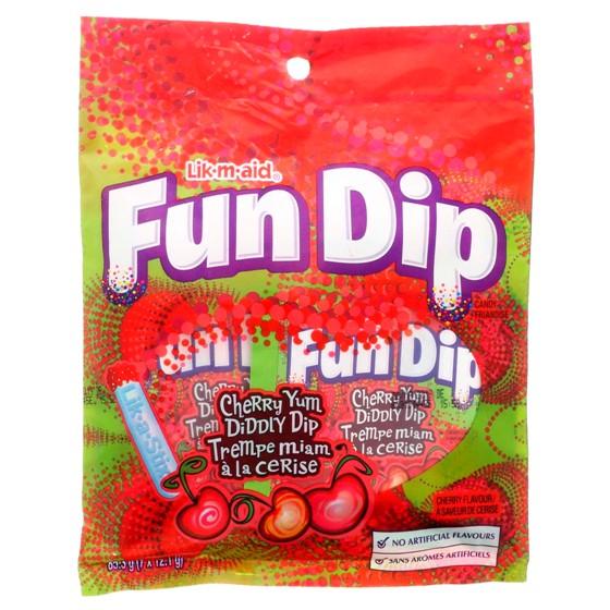 7 Lik-M-Aid Fun Dip candies