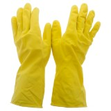 1 Pair Natural Rubber Dish Gloves, Medium - 2